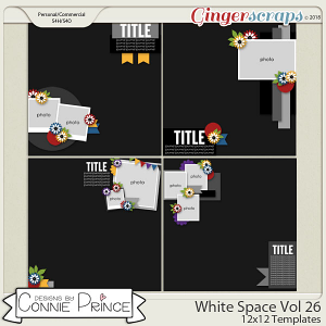 White Space Volume 26 - 12x12 Temps (CU Ok) by Connie Prince