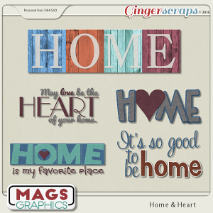 Home & Heart WORD ART by MagsGraphics
