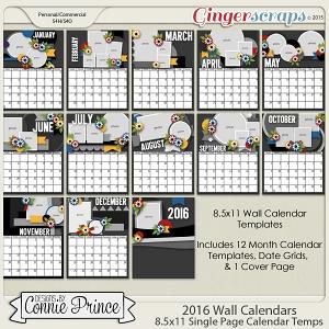2016  Wall Calendar Templates (CU OK)