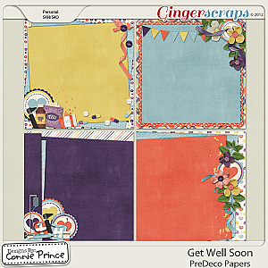 Get Well Soon - PreDeco Papers