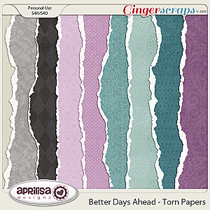 Better Days Ahead - Torn Papers
