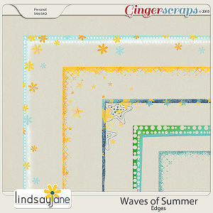 Waves of Summer Edges by Lindsay Jane