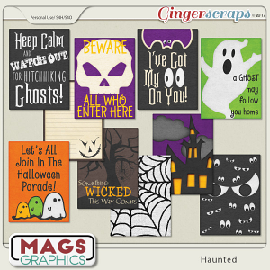 Haunted JOURNAL CARDS by MagsGraphics