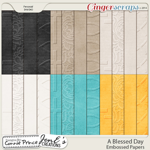 A Blessed Day - Embossed Papers