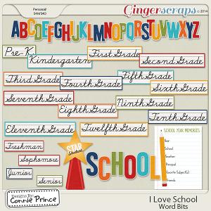 I Love School - Word Bits