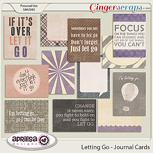 Letting Go Journal Cards by Aprilisa Designs