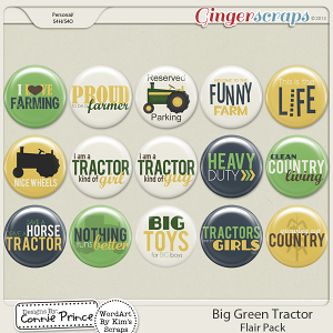 Retiring Soon - Big Green Tractor - Flair Pack