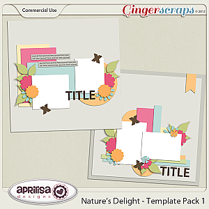 Nature&#039;s Delight Template Pack 1 by Aprilisa Designs