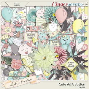 Cute As A Button Page Kit