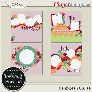 Caribbean Cruise TEMPLATES by Heather Z Scraps