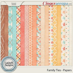 Family Ties Papers: by CathyK Designs