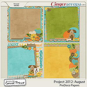 Project 2012:  August - PreDeco Papers