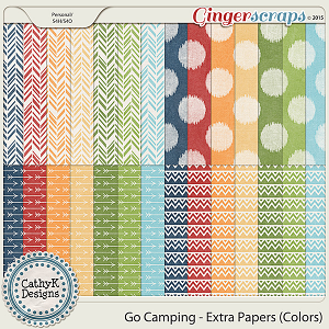 Go Camping - Extra Papers - Colors