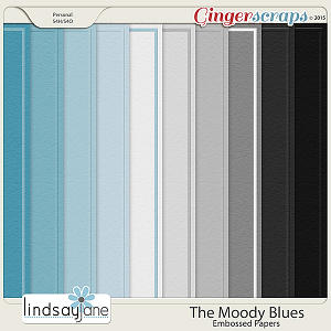 The Moody Blues Embossed Papers by Lindsay Jane