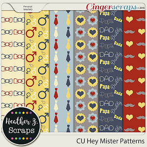 CU Hey Mister PATTERNS by Heather Z Scraps