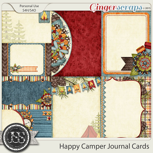 Happy Camper Journal and Pocket Scrapbooking Cards