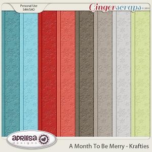 A Month To Be Merry Krafties by Aprilisa Designs