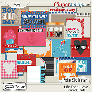 Retiring Soon - Project 2014 February:  Life That I Love - Journal Cards