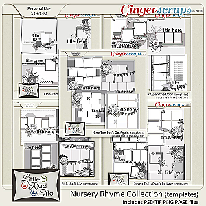 Nursery Rhyme Template Collection