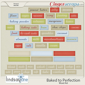 Baked to Perfection Wordart by Lindsay Jane