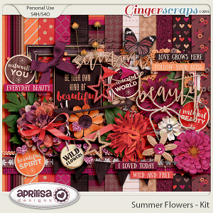Summer Flowers - Kit by Aprilisa Designs