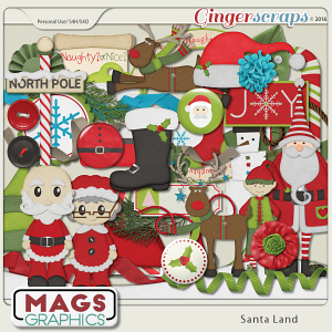 Santa Land ELEMENTS by MagsGraphics