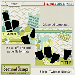 File It - Twice as Nice Collection by Seatrout Scraps