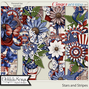 Stars and Stripes Page Borders