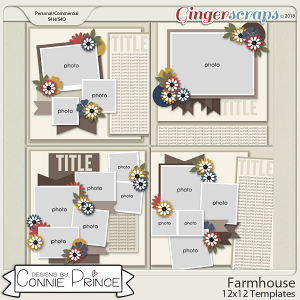 Farmhouse - 12x12 Temps (CU Ok) by Connie Prince