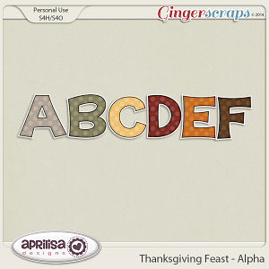 Thanksgiving Feast - Alpha by Aprilisa Designs