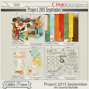 Project 2015 September - Art Journal Bundle