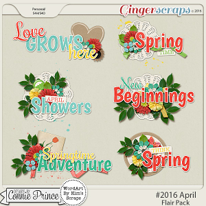 #2016 April - Word Art Pack