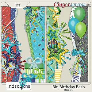 Big Birthday Bash Borders by Lindsay Jane