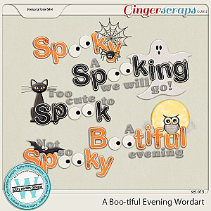 A Boo-tiful Evening Wordart by Kathy Winters Designs