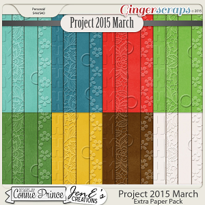 Project 2015 March - Embossed Papers