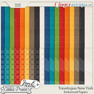 Travelogue New York - Embossed Papers Pack