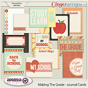 Making The Grade - Journal cards