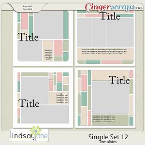 Simple Set 12 Templates by Lindsay Jane