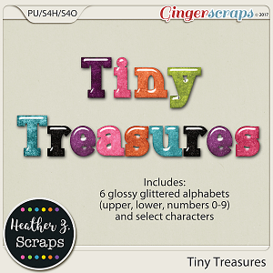 Tiny Treasures ALPHABETS by Heather Z Scraps