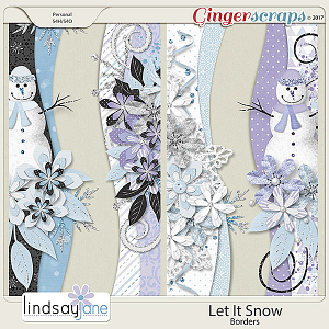 Let It Snow Borders by Lindsay Jane