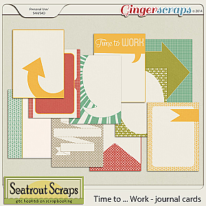 Time to Work Journal Cards by Seatrout Scraps