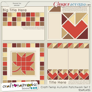 Craft-Templates Autumn Patchwork Set 2