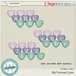 My Forever Love Alpha by Kathy Winters Designs
