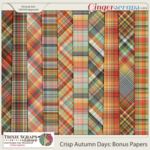 Crisp Autumn Days Bonus Papers by Trixie Scraps Designs