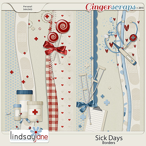 Sick Days Borders by Lindsay Jane