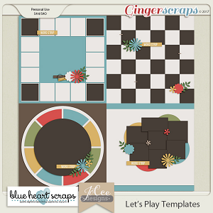 Let's Play Templates by Blue Heart Scraps and JoCee Designs