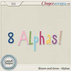 Bloom and Grow - Alpha by CathyK Designs