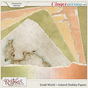 Small World ~ Ireland Shabby Papers
