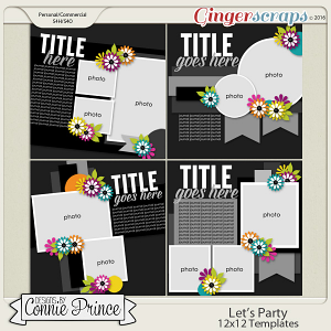 Let's Party - 12x12 Templates (CU Ok)