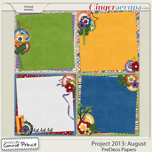 Project 2013:  August - PreDeco Papers